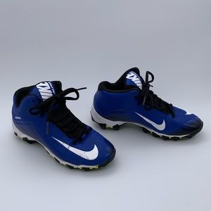 Boys Nike Alpha Cleats Fastflex Blue and White